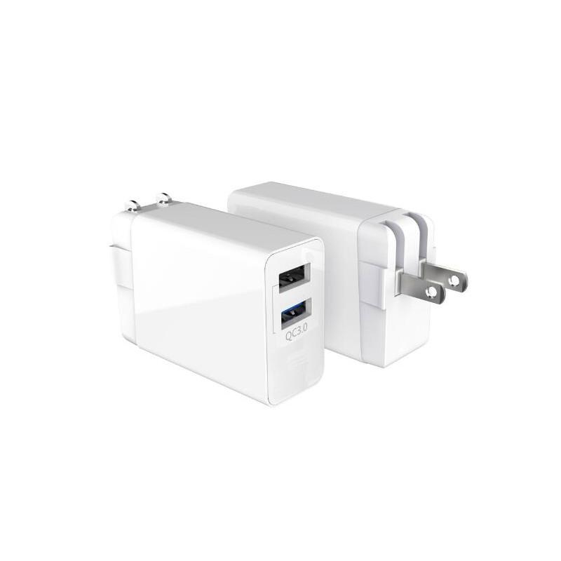 30W 2USB US-plug QC3.0 Charger
